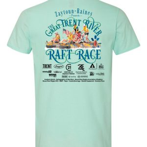 Teal Ice Back T-Shirt for the Great Trent River Raft Race